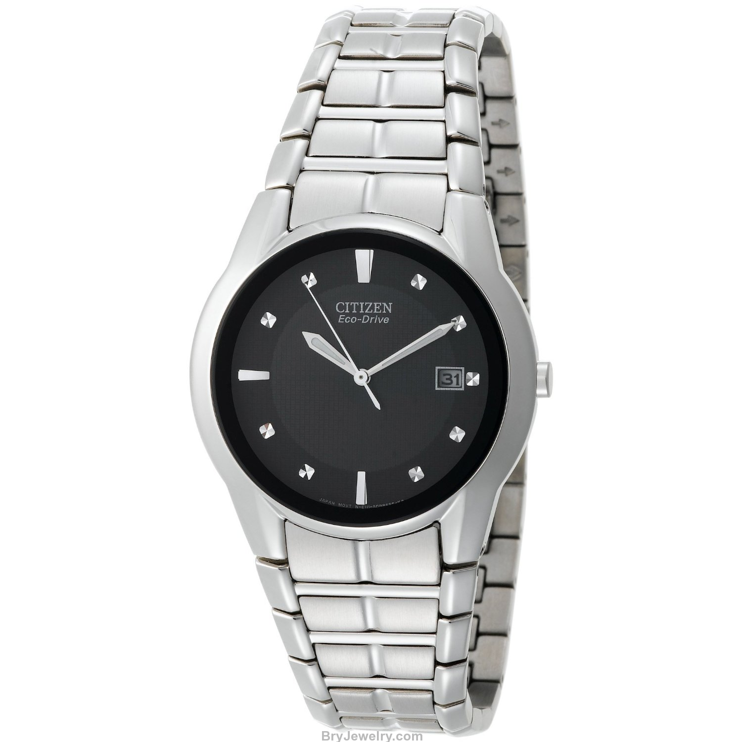 Citizen men 39 s bm6670 56e eco drive stainless steel watch for Stainless watches