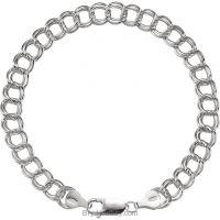 Sterling Silver Charm Bracelet 7mm