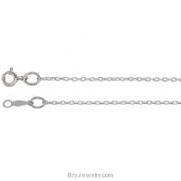 "Sterling Silver 1mm Cable 18"" Chain"