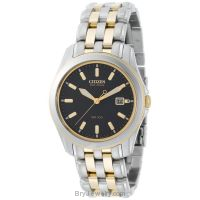 Citizen Men's BM6734-55E Eco-Drive Two-Tone Black Dial