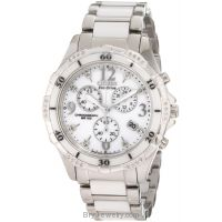 Citizen Women's FB1230-50A Eco Drive White Ceramic Diamond Watch