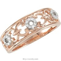 Diamond 1/10 CTW Rose PL Design Ring
