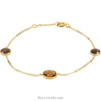 14KY Gold Quartz Bracelet