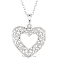 Diamond Heart 1/10 cttw 18' Necklace