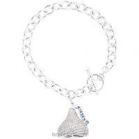Sterling Silver Hershey's Kisses 3D CZ Bracelet