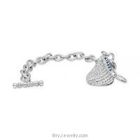 Hershey's Kisses CZ Crystals Charm Bracelet