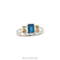 London Blue Topaz Ring 14K Gold
