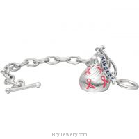 Sterling Silver HERSHEY'S KISSES Breast Cancer Awareness Ribbon