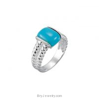 Sterling Silver Chinese Turquoise Ring
