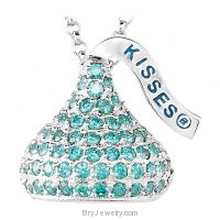 "HERSHEY'S KISSES Cubic Zirconia Birthstones 18"" Necklace"