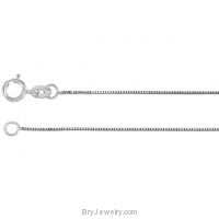 "14K White or Yellow Gold .55mm Solid Box 16"" Chain"