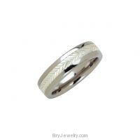 Tungsten Sterling Silver 6.3mm Swiss Cut Ring