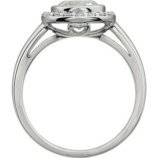 Side Sterling Silver Cubic Zirconia Ring