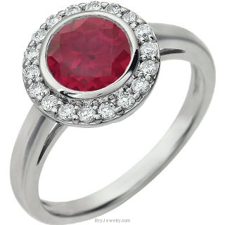 Red Sterling Silver Cubic Zirconia Ring