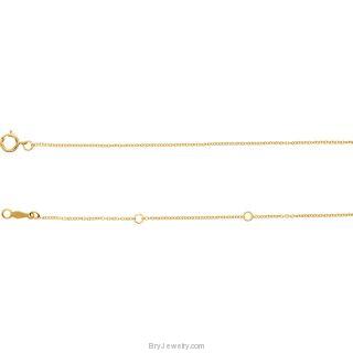 "Shark Tooth 14K Gold Adjustable 16-18"" Necklace"