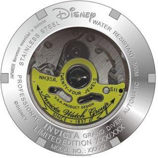 Caseback Invicta Disney Automatic Watch