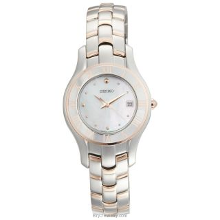 Seiko Women's SXDB76 Mother Of Pearl Dress Watch