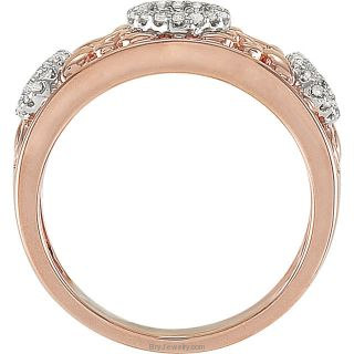 Diamond 1/6 CTW Hearts Rose Ring