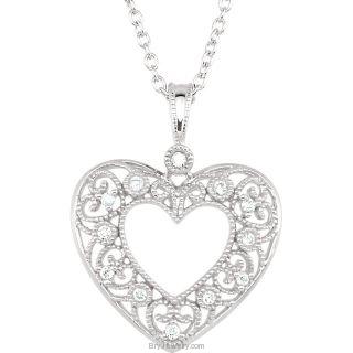 Diamond Heart 1/10 cttw 18' Necklace