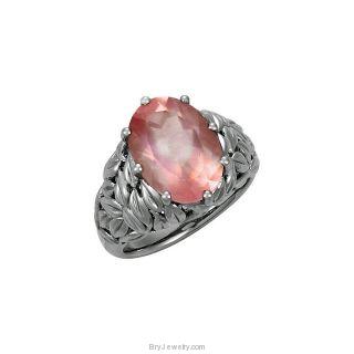 Sterling Silver Genuine Rose Quartz Ring