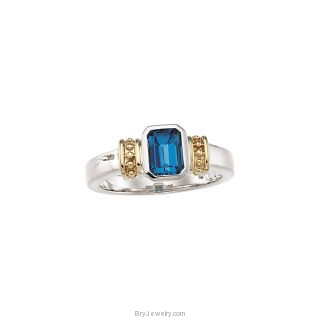 London Blue Topaz Ring 14K Gold