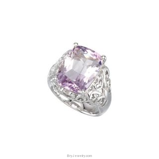 Sterling Silver Rose De France Quartz Ring