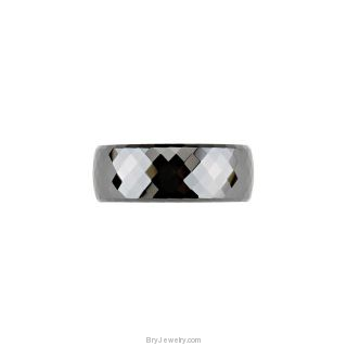 Ceramic Couture Faceted Band 8MM