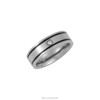 Titanium Band with .05ct Diamond