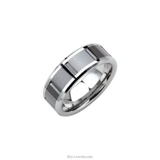 Dura Tungsten Ring with Ceramic Couture Inlay