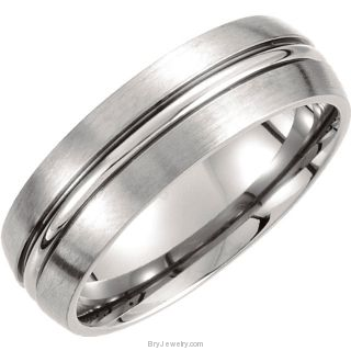 7mm Titanium Domed Band