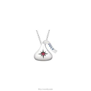 "Hershey's Kisses Birthstone Charm 18"" Necklace"