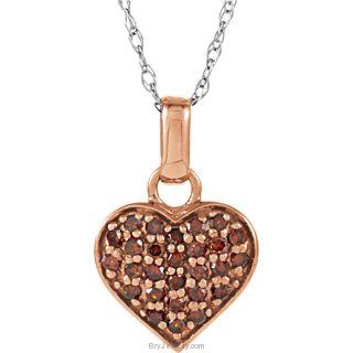 "14K White 1/3 CTW Diamond Heart 18"" Necklace"