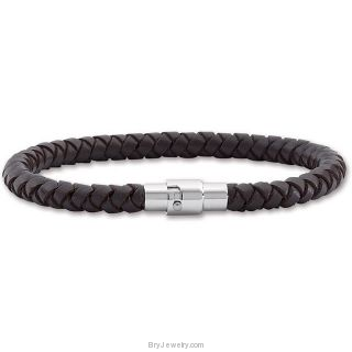 Multicolor 5.5mm Leather Bracelet with Stainless Steel Clasp