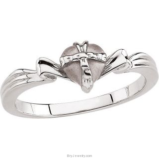 Sterling Silver The Gift Wrapped Heart Ring
