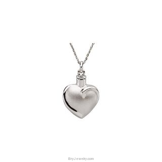 Memorable Heart Ash Holder Pendant and Chain