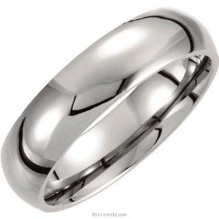 Titanium 6mm Domed Polished Band