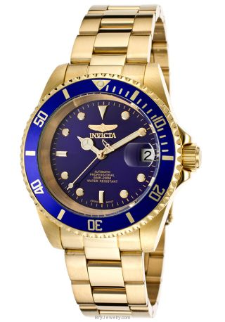 Invicta Men's 8930OB Pro Diver Automatic 3 Hand Blue Dial Watch