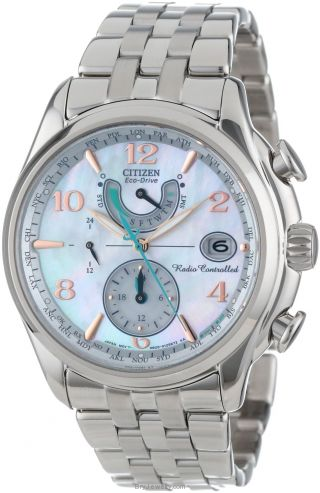 Citizen Women's FC0000-59D World Time AT Eco Drive MOP Qtz Watch