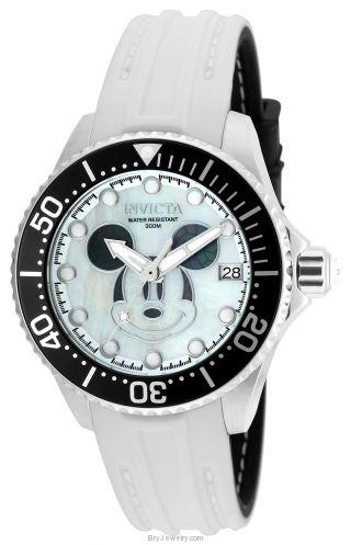 Invicta Black and White Disney Automatic Watch