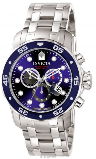 Invicta Men's 0070 Pro Diver Qtz Chronograph Blue Dial Watch
