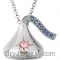 """Hershey's Kisses Birthstone Charm 18"""" Necklace"""