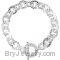 Sterling Silver Hammered Finished Link Toggle Bracelet