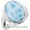 Sterling Silver Genuine Larimar Ring